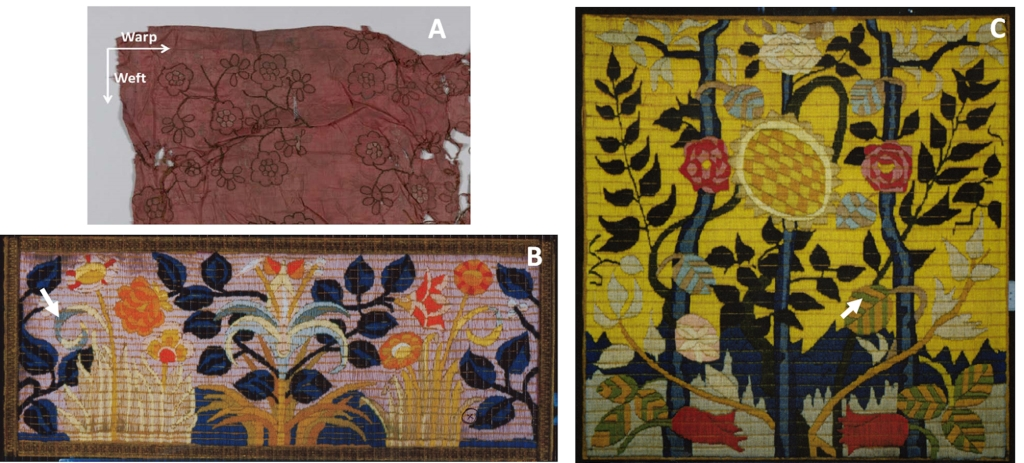 Figure 2. Photographs of sampled historical objects